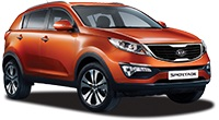 Small 4x4 -  eg Kia Sportage Car Hire  from only £70.93 per day