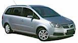 GROUP 7 MPV - eg Vauxhall Zafira Car Hire  from only £66.94 per day
